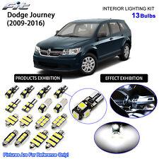 13 Bulbs 6000K HID White LED Interior Dome Light Kit For 2009-2016 Dodge Journey
