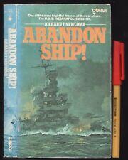 WWII ABANDON SHIP! U.S.S INDIANAPOLIS 1945 SINKING LOSS DISGRACE Richard Newcomb