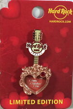 Hard Rock Cafe PRAGUE 2016 Valentine's Day PIN w/Card Copper Heart Guitar LE 150