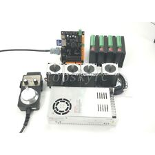 4 Axis Cnc Kit Usb Mach3 Breakout Board Nema23 Stepper Motor Drivers Dm542 Newamp