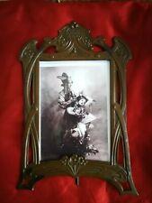 More details for gorgeous original art nouveau, jugendstil metal picture/photo frame