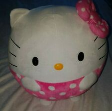 "LARGE JUMBO Hello Kitty Ty Beanie Ballz 13"" Stuffed Animal Plush Toy Excellent!"