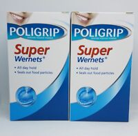 2x Poligrip Wernets Super Denture Fixative Powder 50g