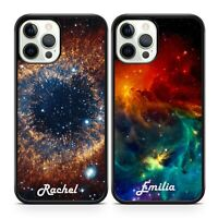 Starry Cosmic Twinkling Galaxy Space Personalised Name Initials Phone Case Cover