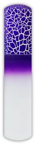 Czech Crystal Glass Crackle Purple Foot File Pedicure Duo Scraper Spa Bar Slab