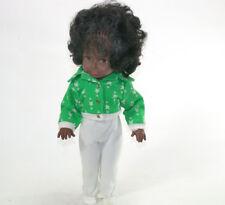 SCHILDKRÖT Puppe Negerpuppe dunkelhäutige Babypuppe Schlafaugen Stimme 44cm 1970