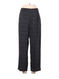 Vince. Silk Black Gray Elastic High Waist Straight Leg Pants Size M Medium