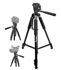 "Professional Adjustable Locking Legs Tilt 60"" Tripod for DSLR Cameras with Case"