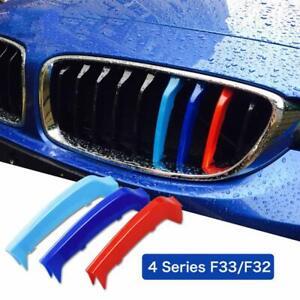 BizTech® Clip In Grill inserts Stripes For BMW 4 Series F32 F33 F36 13-19 MPower