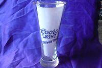 "COORS Light Silver Bullet 7 1/4""i Pilsner Beer Glass Mug Cup Excellent Condition"