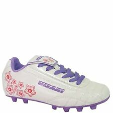Vizari Youth Girls Magnolia Soccer Cleats 2 White Floral 2Y Molded Bottoms 93295