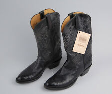 Lucchese Classics Full Quill Ostrich Boots 9 D Black New Tags L2018 6 4 Cowboy