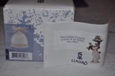 Lladro 1996 Christmas Bell Ornament 16297 Children Carolers Pink Ribbon Nib