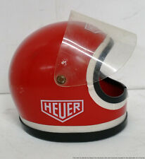 Rare Vintage Heuer Autavia Race Car Pilot Helmet Display Box
