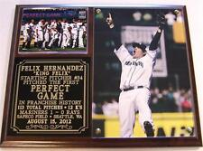 Felix Hernandez #34 Perfect Game August 15, 2012 Seattle Mariners Photo Plaque