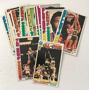 1976 Topps lot of 16, Archibald, Free, Riordan, Heard, Newlin - VG to EX-