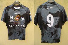 Maillot MONTPELLIER Rugby 2009 porté n°9 ESPOIRS shirt noir collection MHR L