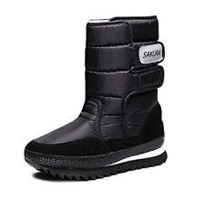 Sakura long Snow Boots With Touch Fastening Silk Black UK 7 EU 41 LN092 AC 08