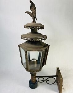 Vintage Large LEE Colonial Copper Brass Porch Exterior Light Eagle America