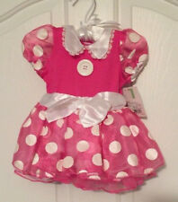NWT-Disney-Minnie-Mouse-Infant-Costume-6-12-Months-Pink-Polka-Dot-Dress-Headband