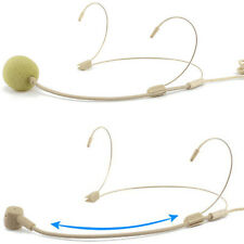 Economy Double Ear-Hook Microphone for Different Wireless Body-Pack Transmitter