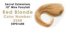 "Secret Extensions 10"" Wire Ponytail Color Red Blonde SEP01600"