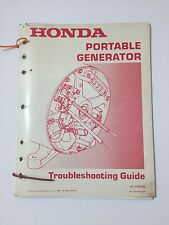 HONDA PORTABLE GENERATOR TROUBLESHOOTING GUIDE