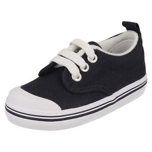 SALE Boy's Ked's Navy Textile Lace Up Casual Canvas Summer Shoes Scooter