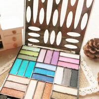 Pro 27 Colors Shimmer Eyeshadow Makeup Palette Kit Set W/ Brush Hot