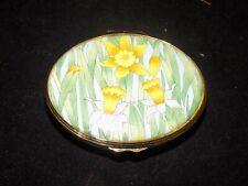 Halcyon Days Enamels Trinket Box- Design Alice Bickman England- Daffodil