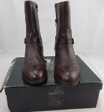 RALPH LAUREN MESI Dark Brown Leather Booties Short Boots Shoes 9.5 B $139