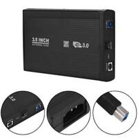 3.0 External Hard Drive Enclosure Caddy Case 3.5 SATA USB Computer HDD 5Gbps