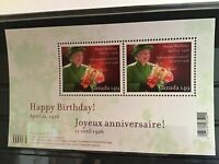 Canada mint never hinged Queen Elizabeth birthday stamp sheet R21718