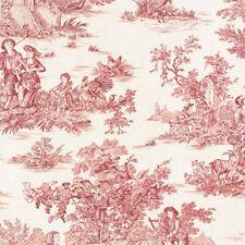 Textiles français Toile de Jouy Fabric (La Grande Vie Rustique) Red