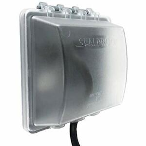 2-Gang Weatherproof In Use Outlet Cover Two Outdoor Plug And Receptacle UL Extra