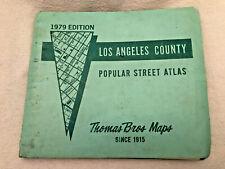 New Listing1979 Thomas Bros Maps Los Angeles County Street Atlas Guide California Vg Cond