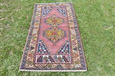 Turkish Hand Woven Vintage Decor Rug Traditional Design Tribal rug 3 x 6 Feet