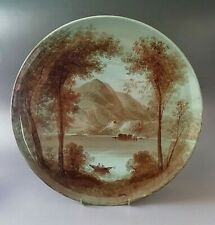 More details for copeland antique william 'billy' yale charger of loch achray in scotland c.1879