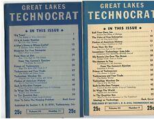 Technocracy Inc. Great Lake Technocrat July / Aug and March/April (1946)