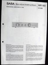 SABA HiFi 183 - Amplifier CI 300 Schaltbild Ersatzteilliste Service-Instruction