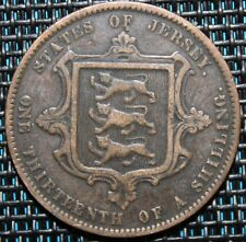 JERSEY 1/13 SHILLING VICTORIA 1866
