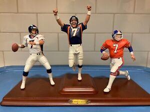 "Danbury Mint  -  Denver Broncos John Elway 3 Figure Set in the ""Original Box"""