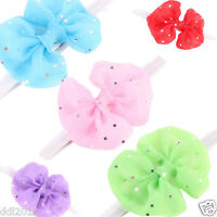 Girl Kid Head Accessories Handband Hairband Baby Elastic Flower Net Headwear