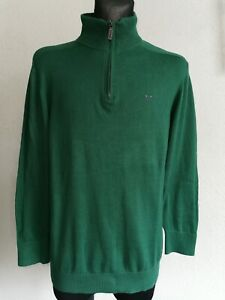 Crew Clothing Co mens cotton long sleeve green jumper size M