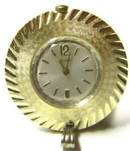 Ladies Vintage Timex Manual Wind Up Gold Plated Pendant Necklace Watch FANCY