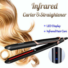 2 in 1 Curling Iron Hair Straightener Infrared Curler Crimper Ceramic Tourmaline