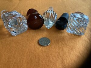 Vintage Glass Cruet Decanter Liquor Stoppers Only Lot of 5