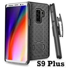 SAMSUNG GALAXY S9+ PLUS - Hard Holster Kickstand Case Cover with Belt Clip Black