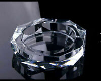 Personalised Logo Luxury Crystal Clear Cigarette cigar Ashtray Ash Tray Decor