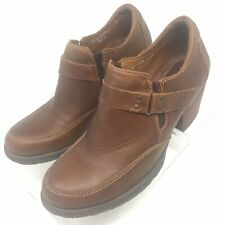 Born Women's Ankle Booties Sz 9 US 40.5 EU Brown Leather Slip-On Stretch Gusset